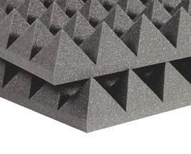 FLEXAKUSTIK PIR-90 1000х1000х90мм, цвет серый графит пирамидки