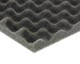 FLEXAKUSTIK wave-30 1000х1000х30мм, цвет серый графит волна