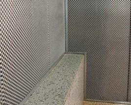 Саундлюкс-Техно (НГ), черная ткань ПВС 2500х300х40мм, 0,75м2-шт., цвет - оцинк.сталь